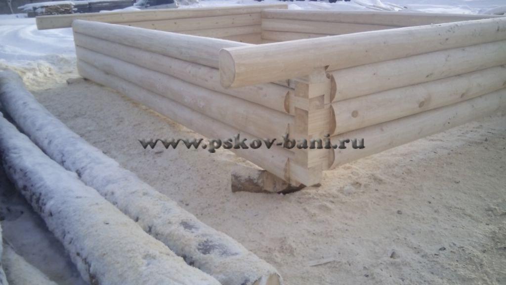 Фундамент столбчатый под сруб