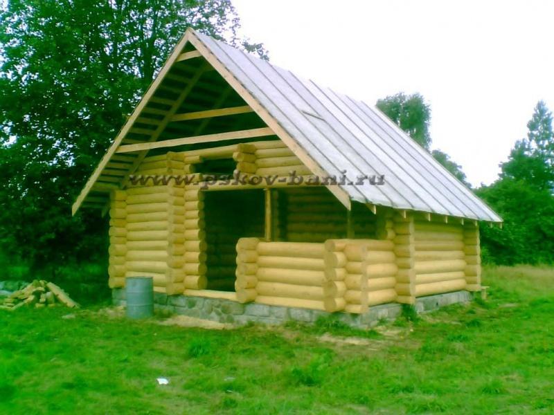 Псковские бани - срубы домов недорого под ключ, изготовление и продажа