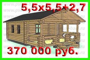 Проект бани 550x550 270 бэ 11 цена в чашу